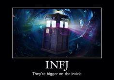INFJ - ''They're bigger on the inside. Infj Mbti, Intj And Infj, Infj Type, Enfj, Myers Briggs Personality Types, Myers Briggs Personalities, Infj Personality, Scorpio, Aquarius