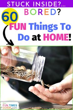 Are you stuck at home bored? Need some fun things to do at home to relieve the boredom. Here's a list of fun things to do when you're bored at home!