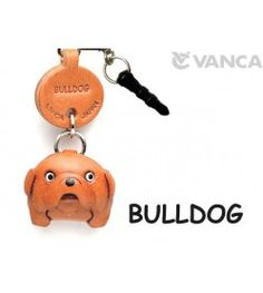 Bulldog Leather Dog Earphone Jack Accessory
