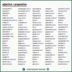 Adjective + Preposition   #English #Grammar #Vocabulary #English101 myenglishteacher.eu