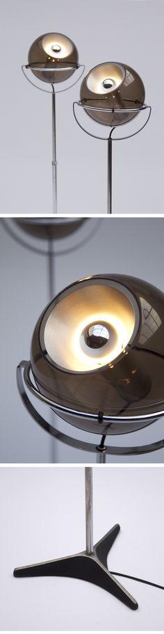 GLOBE, RAAK, FLOOR LAMPS, dutch, design,1972