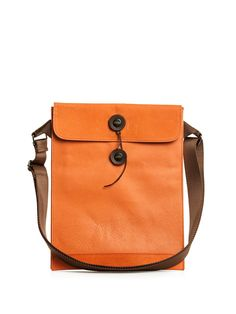 Leather ipad bag by Peasants & Travelers.