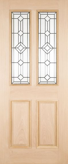 The Manor Oak external door comes complete with 2 triple glazed leaded glass panes and raised mouldings to the outside face for extra depth. External Oak Doors, 2d Design, Leaded Glass, How To Introduce Yourself, Contemporary, Home Decor, Decoration Home, Room Decor, Home Interior Design
