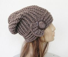 Hand Knit Hat Womens hat  Winter  hat   chunky knit by Ebruk, $35.00