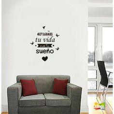Vinilos Decorativo Frase:No sueñes tu vida vivi tus sueños. WALL STICKER DECOR