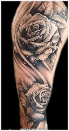Tatuagens femininas e masculinas de Rosas