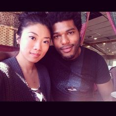 Asian & Black Couples — Another great looking Blasian couple, Christian,...