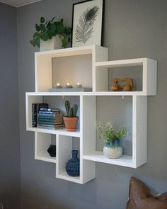 Apartment Chic Interior Storage Shelves Kitchen Cube Shelving