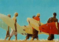 very cool surf art. Jean Marie Drouet   COTW Surf Artist