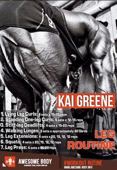 Kai Greene Leg Workout | Workout Basic Routine | Awesome Body