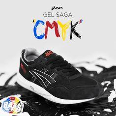"Asics Gel-Saga ""CMYK""   The black one of the CMYK pack!   www.sneakerbaas.nl   #ASICS #GEL #SAGA #CMYK"