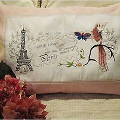 Bring the romance of Paris into your boudoir with this whimsical cushion cover from Oh Sew New.