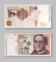 5.000 Pesetas de la Antigua Moneda Española - Money Made in Spain Old Posters, Money Notes, Childhood Toys, Postage Stamps, Ephemera, Nostalgia, Old Things, History, Retro