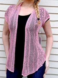 Sweet Pink Crochet Cut out Sweater knit Cover up Shrug Jacket vest cardigan Top Lace Sweater, Knit Jacket, Clubwear, Fashion Outfits, Clothes For Women, Sweaters, Jackets, Sexy, Vintage Style