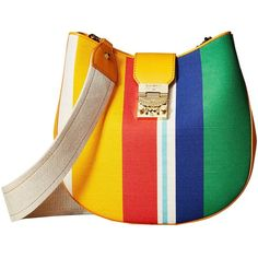 50de78f87758 MCM Patricia Canvas Hobo (Rainbow Yellow) Hobo Handbags (38.785 RUB) ❤ liked