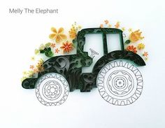 Quilled Tractor. Quilling art #papercutting #quilling #paperart #tractor #lgenpaper #art_we_inspire #floralart #arrtposts #sharingart #artshub #countryliving #farmlife