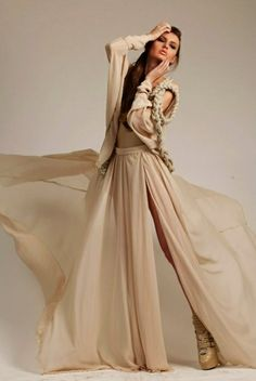 Stunning sand dress and shoes