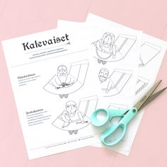 Kalevaiset – Lines I Drew Finland, Doodles, Bullet Journal, Fancy, Teaching, Drawings, Illustration, Hair, Beauty
