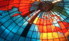 Travel back in time to 1935 inside this giant stained glass globe at the Mary Baker Eddy Library. Funny thing... one minute you're just walking around, and then suddenly you're inside the Christian Science Mapparium -- a 30ft diameter sphere painted with a world map from pre-WWII. Bonus: there's a light show.