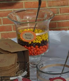 Fall Shower Candy Bar Reeses
