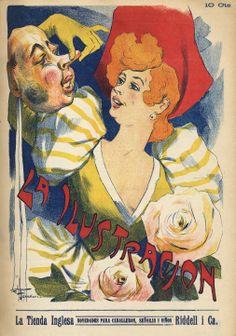 Portada La Ilustración   Año: 1904  Autor: José Foradori  Lugar: Santiago  Archivo: Biblioteca del Congreso Nacional de Chile