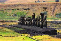 Ahus Chile, Vineyard, Outdoor, Maps, Easter Island, Volcanoes, Wine, Beach, Scenery
