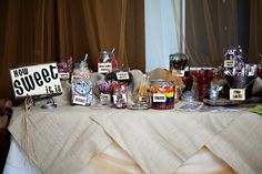 Country Wedding Sweets Table
