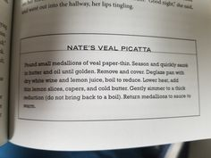 14. Nate's Veal Picatta