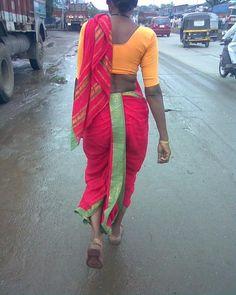 thats a local maharashtrian women worn nauvaree saree Indian Beauty Saree, Indian Sarees, Marathi Saree, Pakistani, Tribal India, Kashta Saree, Indian Women Painting, Indian Girl Bikini, Mother India