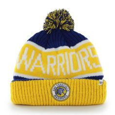 dd7aff170ca924 ... sweden golden state warriors 47 brand calgary pom top cuff knit ski cap hat  beanie f77d5