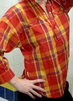 Kupuj mé předměty na #vinted http://www.vinted.cz/damske-obleceni/kosile/16197809-cerveno-zluta-kostkovana-kosile-adidas-netopyriho-strihu-s-34-rukavy