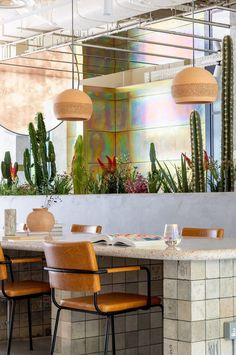 Surrounding surfaces have been largely rendered with neutral materials like clay bricks and timber that the studio felt matched the desert landscape. This excludes a handful of walls and structural columns that are clad with passivated zinc, which boasts a rainbow-coloured surface finish. Sunny California, Mojave Desert, Property Design, Hotel Stay, Co Working, Hotel Interiors, London Hotels, Instagram Worthy, Commercial Interiors