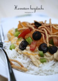 Easy Hawaiian Haystack Recipe on iheartnaptime.net ...one of my families favorite meals!