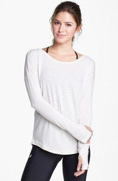 Under Armour 'Flow' Long Sleeve Top available at #Underarmour @ http://www.FitnessGirlApparel.com