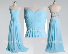 Tiffany Blue Prom Dress,Sweetheart Prom Dress,Backless Prom Dress,Sexy Long Chiffon Prom Dress D0071117 on Etsy, $96.99