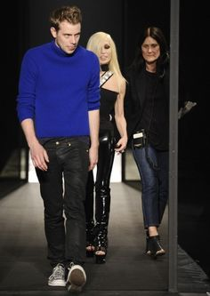 JW Anderson and Donatella Versace at Versus Versace 2013 Collection Launch
