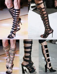modelos de sandálias gladiadoras de salto