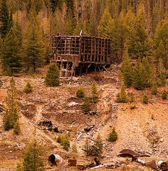 Mining remains near Custer Ghost Town, Idaho. By Lindsey Botkin