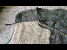 Baby Knitting Patterns, Vest, Pullover, Sewing, Youtube, Sweaters, Fashion, Knitting Patterns, Tricot