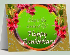 Happy Anniversary  Love is the circle of by theKIRKLEYcollection, $3.25
