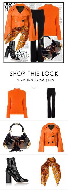 """Down Town Flaire"" by stars-5 ❤ liked on Polyvore featuring ASOS, Bear Hug, Alexander McQueen, Gucci, EUDON CHOI, Valentino and Pam Weinstock London"