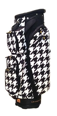 Cart Bag by Molhimawk with Loudmouth Golf Print - Oakmont Houndstooth. Buy now @ ReadyGolf.com