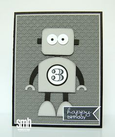 Stamping My Happy: Happy Birthday Robot: More Punch Art Ideas using Stampin' Up! Paper Punches