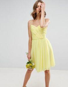 ASOS WEDDING Rouched Mini Dress