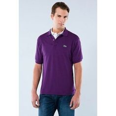 lacoste men polo shirt purple Lacoste Outlet, Lacoste Store, Polo Lacoste, Tommy Clothes, Purple Polo Shirts, Polo Ralph Lauren, Mens Tops, Fabricant, Shopping