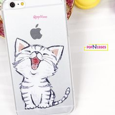 Cute Laughing White Kitten UV Printed on Clear TPU protective for iPhone Phone Case Kitten Cat Laugh Smile Fun Happy Cats White Kittens, Cats And Kittens, New Things To Try, Iphone Phone Cases, Cute Designs, Apple Iphone 6, Kittens Cutest, 6s Plus, Laughing