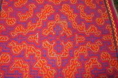Shipibo Hand Embroidered Tapestry by EveryThingIsSacred on Etsy