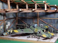 Messerschmitt hanger diorama