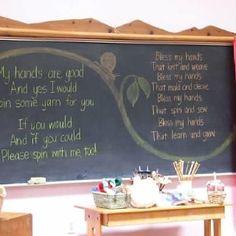 Our handwork verses at Summergarden summer camp, Davis Waldorf School. www.daviswaldorf.org/summer