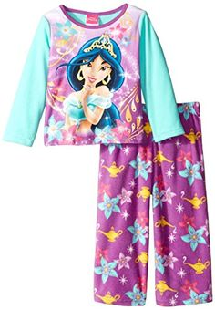 Disney Little Girls Toddler Princess Jasmine Dreams and Wishes 2Piece Pajama Set Purple 2T ** Check out this great product.